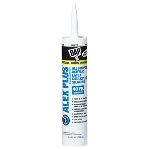 DAP INC 18152/11440 10.1oz White Alex Plus Acrylic Latex Caulk with Silicone, 2 Pack