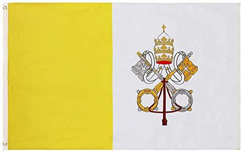 Cascade Point Flags Catholic Flag – 3x5 Feet, Stunning Oxford 200D Heavy Duty Nylon, Durable and Long Lasting – Vivid and Fade Resistant (Catholic 3x5)