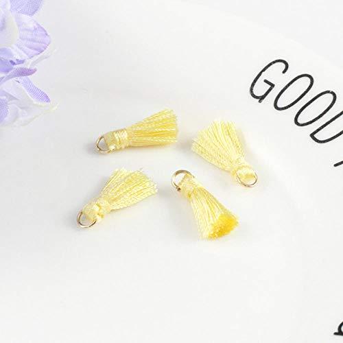 WANM Elegant Jewellery Tassels For Crafts 10PCS 1.5CM Mini Polyester Thread Tassel For earrings, bracelets, bag, curtain decorations, DIY Keyring Projects Bookmarks Making