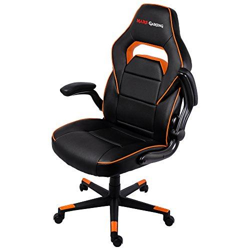 Mars Gaming MGC117BO Professioneller Gaming-Stuhl Schwarz/Orange