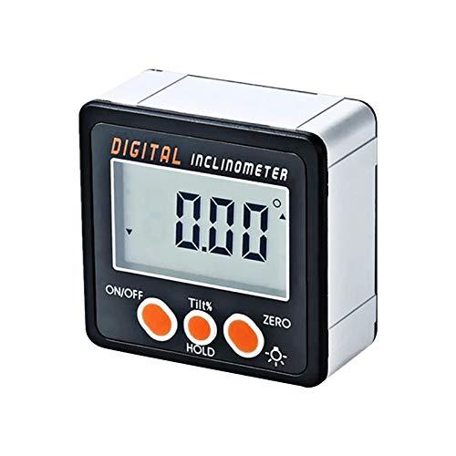 RUIZHI Inclinómetro Digital Transportador 0-360 ° LCD Nivel Buscador de ángulos Aleación de aluminio Medidor para Carpintería Mantenimiento de Automóviles