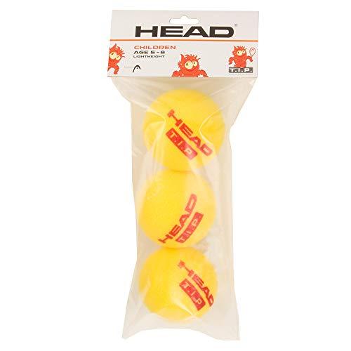 HEAD Unisex-Erwachsene 3B T.I.P. ROT – Foam Ball Light – 4 Tennisball, Mehrfarbig, Einheitsgröße