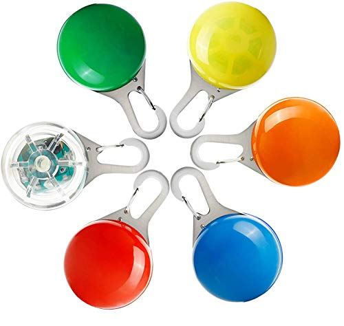 Toozey Blinklicht Schulranzen Hundehalsband Licht 6 STK - Leuchthalsband Leuchtanhänger Hund - 3 Blinkmodi für Läufer, Radfahrer, Draussen, Nachtwandern - Anschnallen