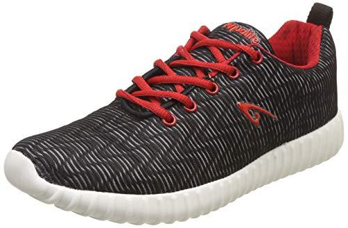 Aqualite Men's Black/Red Running Shoes-10 UK/India (44 EU) (MAGIC-54)