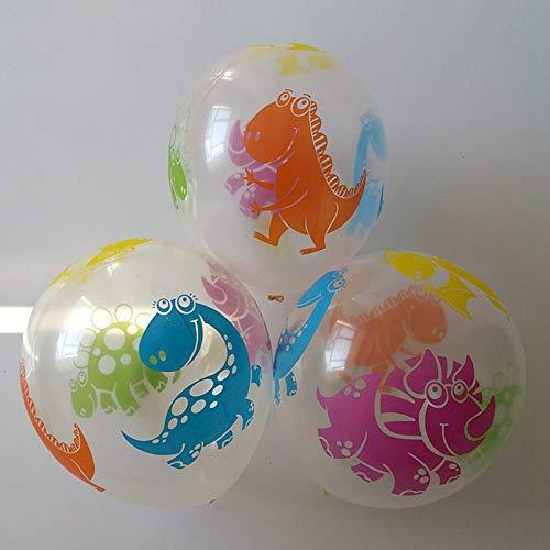 Scge 15pcs 12inch Thick 2.8g Drucken transparente Latexballons Dinosaurier gedruckt Geburtstag Ballon Interessante Kinderspielzeug