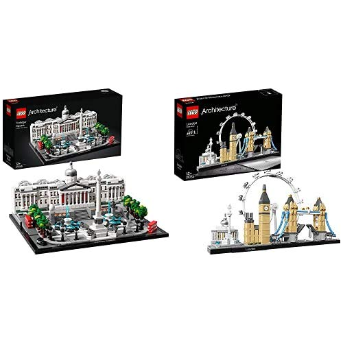 Lego Architecture Trafalgar Square Set Di Costruzioni Per Ricostruire Uno Dei Famosi Angoli Di Londra, Per Ragazzi 12 Anni, Multicolore, 21045 & Architecture, Londra, 21034