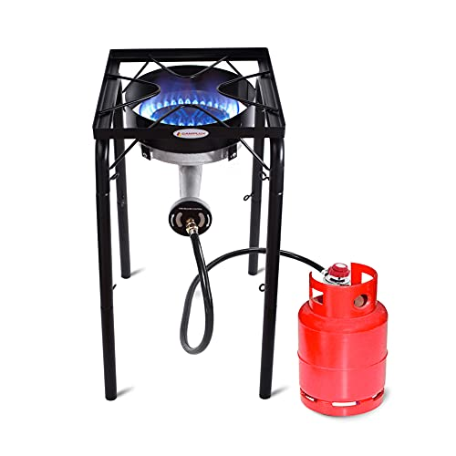 Camplux Propane Burner 200,000 BTU, Single Outdoor Stove, Propane Gas Cooker for Home Brewing, Turkey Fry