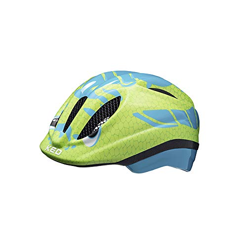 KED Meggy Trend Helm Kinder Dino Light Blue Green Kopfumfang S/M | 49-55cm 2020 Fahrradhelm