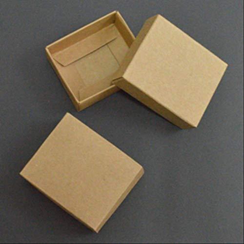 Scatola Regalo Cartone 10pcs Kraft Paper Scatola Di Cartone Grande Confezione Regalo Bianco Nero Giftbox Coperchio Scatola Di Carta Di Cartone Grande Confezione Regalo Imballaggio 21X15X5cm kraft
