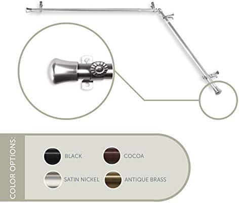 Rod Desyne Corner 285 13 16 Single Corner Curtain Rod 28 48 Satin Nickel Amazon Ca Home Kitchen