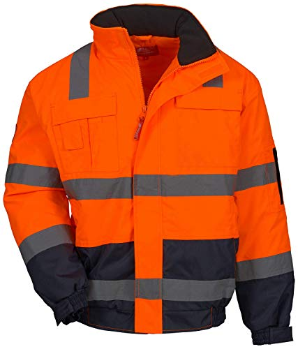 Nitras Motion Tex Viz 7142 Bomber-Warnschutzjacke - EN 20471 - Orange - XL