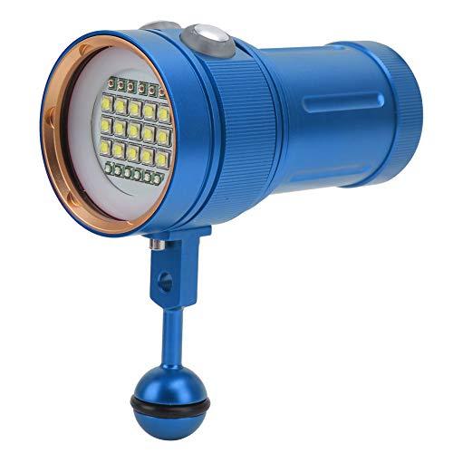 Suave Buceo Linterna, 16x10.5x7cm Aluminio Aleación 300-500 METRO No reflexivo taza, Plano Luz por Escalada Cámping