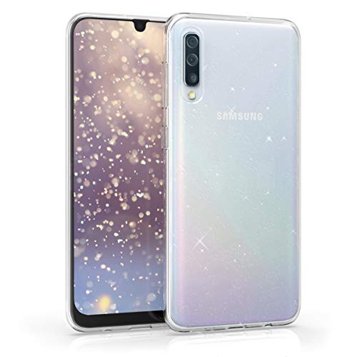 kwmobile Hülle kompatibel mit Samsung Galaxy A50 - Handyhülle - Handy Hülle Glitzer Uni Transparent