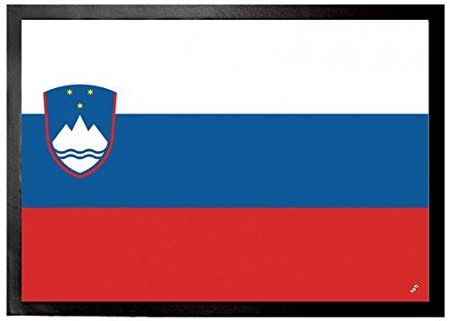 1art1 Slowenien - Flaggen Der Welt Fußmatte Innenbereich & Außenbereich | Design Türmatte 70 x 50 cm