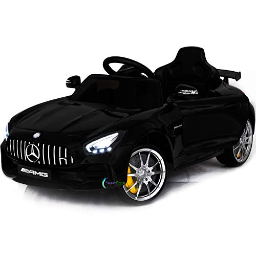Mercedes Americas Toys Ride On Car - 12V Battery Powered Ride On Electric Car for Kids - with Remote Control - Kids Ride On Toy MP3 Plastic Wheels Horn Compatible Black