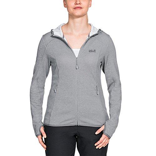 Jack Wolfskin Hydropore Hooded Jacket Women Größe L Alloy