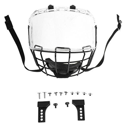 Toygogo Eishockey Helm mit Visier Gitter Gesichtsmaske Eishockeyhelm Helmet