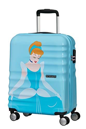 American Tourister Wavebreaker Disney Deluxe - Spinner S Bagaglio a Mano, 55 cm, 36 L, Blu (Cinderella)