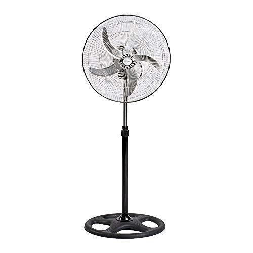 Enrico Coveri Ventilatore A Piantana 65 Watt di Potenza, Struttura in Acciaio con 5 Pale In Alluminio, Altezza 125 Cm Regolabile, 3 Velocità, Perfetto per Casa e Ufficio (Mod 1)