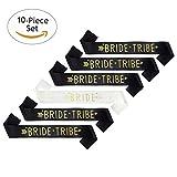 Skaine 9 unids Tribe novia Fajas con 1 unid Bride Sash Hen Do accesorios nupciales de la ducha para Hen Night Party