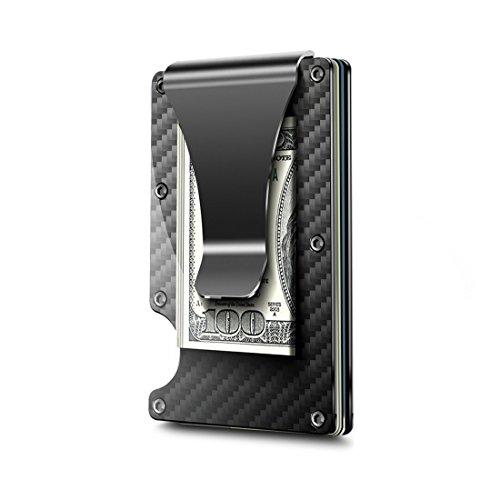 Demiawaking Poche Fin en Acier Inoxydable Porte-Monnaie Pince /à Billets Cash Support Noir 1 Pc Noir Acier Inoxydable