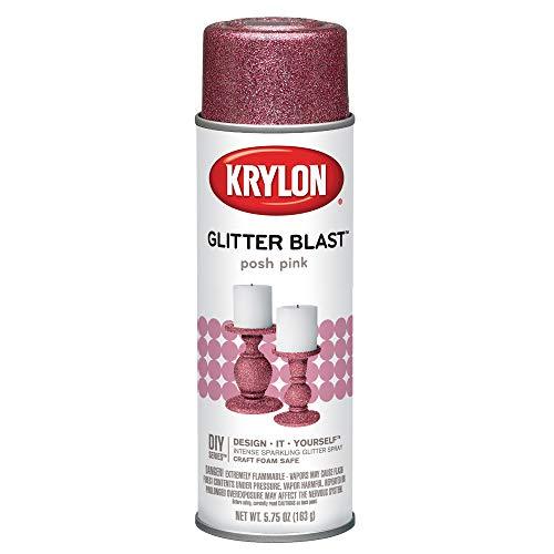Krylon K03812A00 Glitter Blast, elegante, rosa, 163 ml
