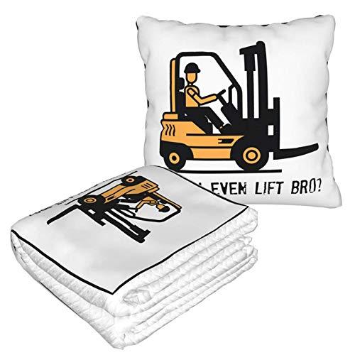 Even Lift Bro - Manta de viaje 2 en 1, suave y cálida de alta calidad, manta para el cuello de avión de felpa para dormir