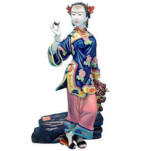 WPXBF Sculture Statue Soprammobile Statuine Soprammobili Sculture Decorative Figurine Antico Bellissimo Angelo Figurine Cinese Femminile Porcellana Moda Bambole Sculture Vintage da Collezione Stat