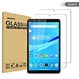 (2 Pack) Orzero Compatible for Lenovo Tab M8 (8 inch) Tempered Glass Screen Protector, 9 Hardness HD Anti-Scratch Full-Coverage (Lifetime Replacement)
