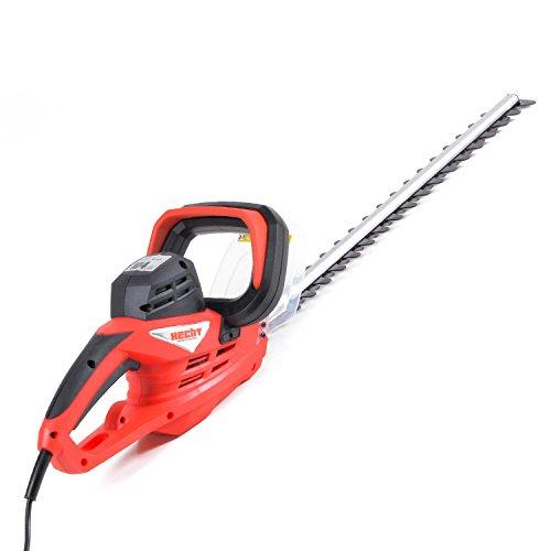 HECHT Elektro-Heckenschere 610 Strauch-Schere Elektrische Hecken-Schere mit 90 Grad verstellbaren Drehgriff (600 Watt, 68 cm Schwertlänge und 24 mm Ø Schnittstärke)