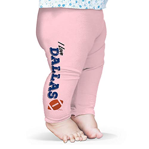 Twisted Envy Baby Leggings I Love Dallas American Football Pink 3-6 Months