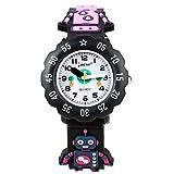 KZKR Analoge Kinder-Armbanduhr für Kinder, wasserdicht, 3D-Cartoon-Spielzeug, Lern-Armbanduhr, Geschenk