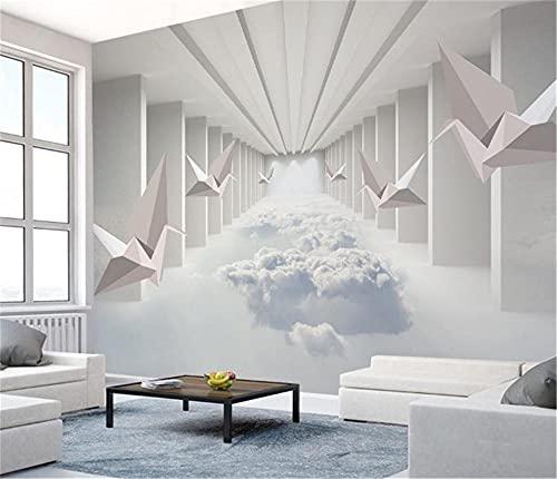 BLZQA 3D Papel tapiz Fotográfico Espacio tridimensional Mural Salón Dormitorio Despacho Pasillo Decoración murales decoración de paredes moderna 200x150 cm-4 panelen