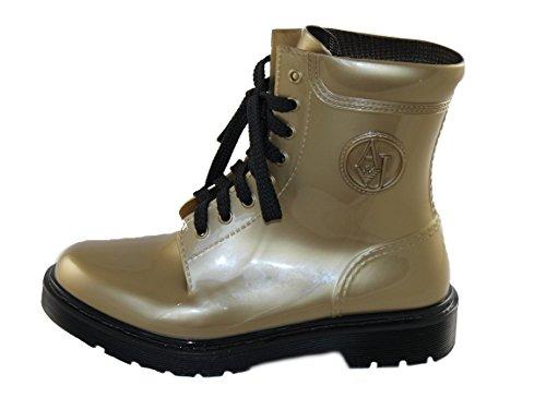 Armani Jeans Damen Stiefel Gummistiefeletten Boots 925118 (40, Gold)