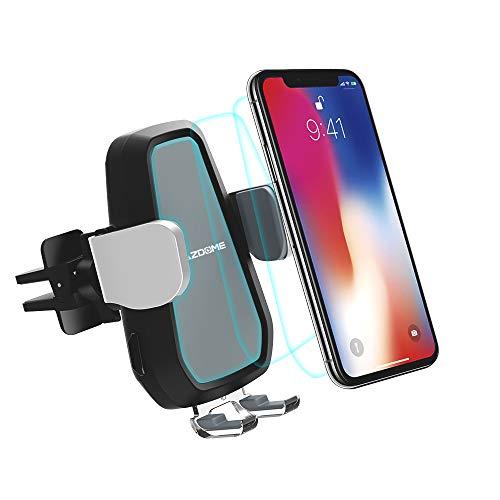 AZDOME Auto Handy Halterung QI Induktive KFZ Ladegerät Qi Ladegerät Schnelles Ladestation für Samsung Galaxy S6/S7/S8/S9/Note 8, iPhone 11/X/8 Plus/8(CW01)