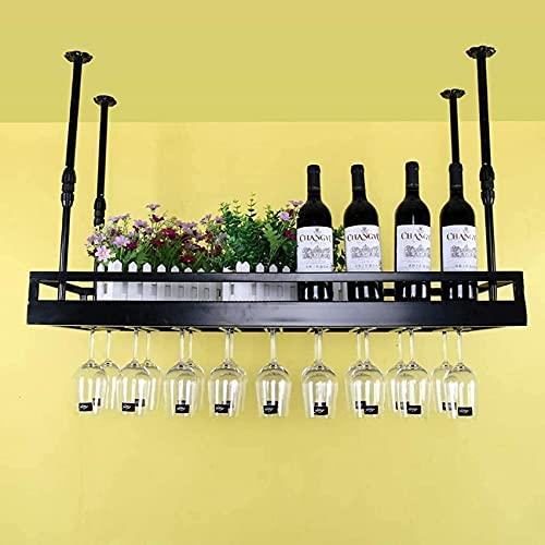 Estante para vino, estante para vino Portavaso para vino Porta botellas Estante para vino Industrial Wind Retro Colgante para copas de vino Estante para botellas de vino tinto de estilo europeo Fácil