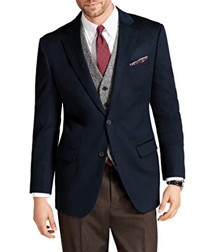 Brooks Brothers Red Fleece Men's Cotton Blend 2 Button Sports Coat Blazer Navy Blue (42S Short)