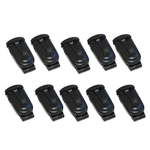non-brand 10x Clip De Cinturón De Reemplazo para Radios De 2 Vías Motorola Talkabout Walkie-Talkie