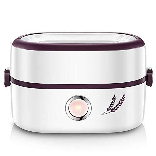 BANNAB Elektrische Brotdose Reis Artefakt Kochen Brotdose Abnehmbarer Keramikbehälter Tragbare Steckheizung für Büro und Haushalt