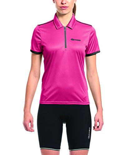Gonso Damen Litha Da-Bike-Polo, Raspberry, 38