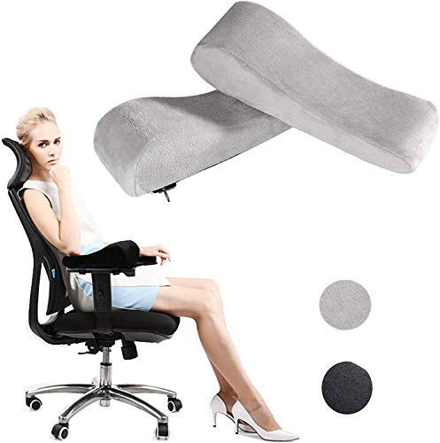 Chair Armrest Pads, Armrest Pads for Office Chair, Office Chair Armrest Pads Gaming Chair with Arm Support Cushions Ergonomic Memory Foam Elbow Pillows