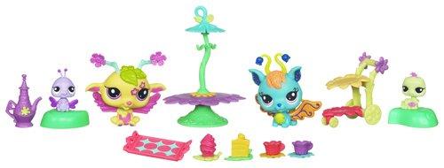 Littlest Pet Shop - 39999 - Poupée et Mini-Poupée - Gouter Fabuleux : Blue + Chenille - Apple + Coccinelle