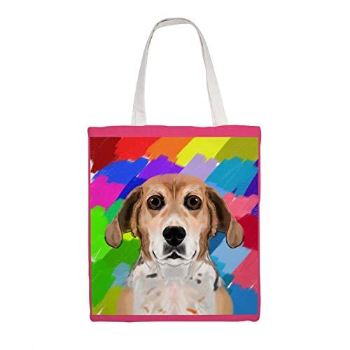 Borsa in tela di cotone Tote - Basil, riutilizzabile Shopping Tote Bag Design Borse a tracolla