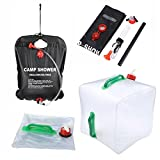 Tloml Portable Shower Bag for Camping 5 gallons/20L Solar Shower Bag for Outdoor Traveling Hiking Summer Shower,Beach Accessories,Portable Water Heater,Camp Shower,Portable Shower for Camping