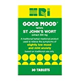 HRI Good Mood. St John's Wort 344 Milligrams Tablets. to Relieve The Symptoms of Slightly Low Mood and Mild Anxiety Relief. 30 Tablets