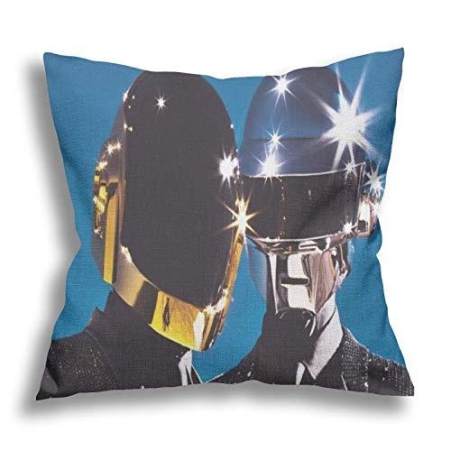 Daft-Punk Kissenbezug, Mode Kissenbezug für Couch und Schlafen Personalisierte dekorative oder Text Reise Kissenbezug 18x18 Zoll