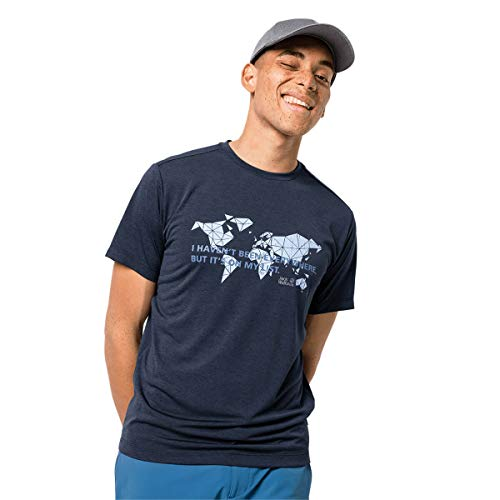 Jack Wolfskin Jwp World T-Shirt Homme T-Shirt Homme Night Blue FR : L (Taille Fabricant : L)