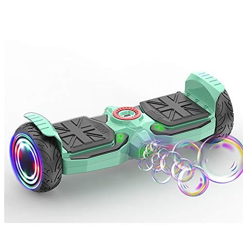 Hoverboard Self Balancing Patinete Vehículo de Dos Ruedas para Adultos y niños Inteligente Scooter, Green
