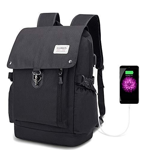 Etmury Antifurto Zaino Porta PC Sicurezza Zaino Laptop da Pollici Impermeabile con Porta USB Zaino Uomo Donna Borsa Scuola Casual Viaggio