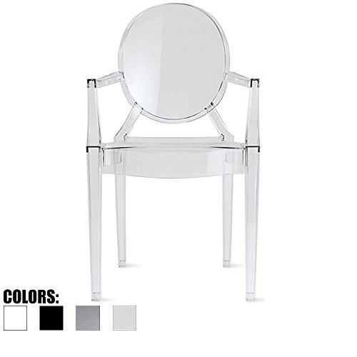 2xhome Clear Modern Contemporary Ghost Chair With Arms Mirrored Furniture Desk Vanity Dining Chairs Arm Armchairs Armchair Decor Plastic Writing Office Outdoor Bedroom Acrylic For Bedroom Bench